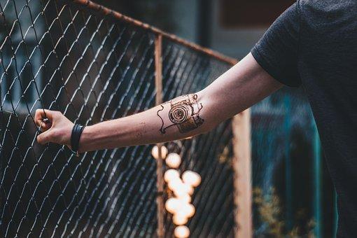 Tatuagem, Mão, Mandala, Sexy, Tatuagens