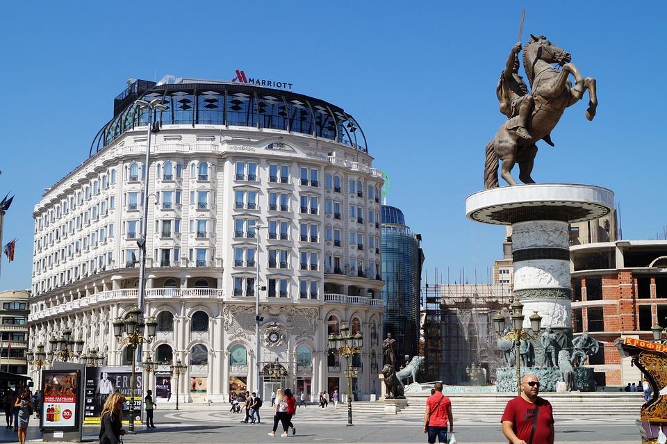 Stadt, Mazedonien, Statue