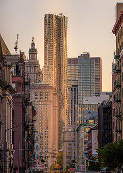 Usa, New York, City, View, Architecture