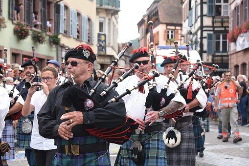 Cornemuse, Musiciens, Kilt, Écosse