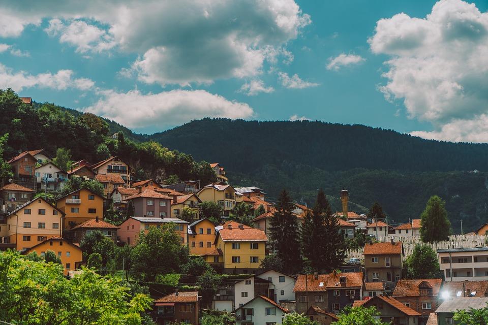 W Sarajewie, Bośnia, Stolica, Budynku, Hezegovina