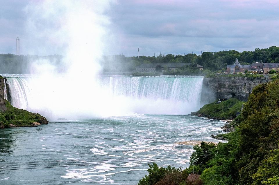 Niagarské Vodopády, Vodní Energie, Mlha, Příroda