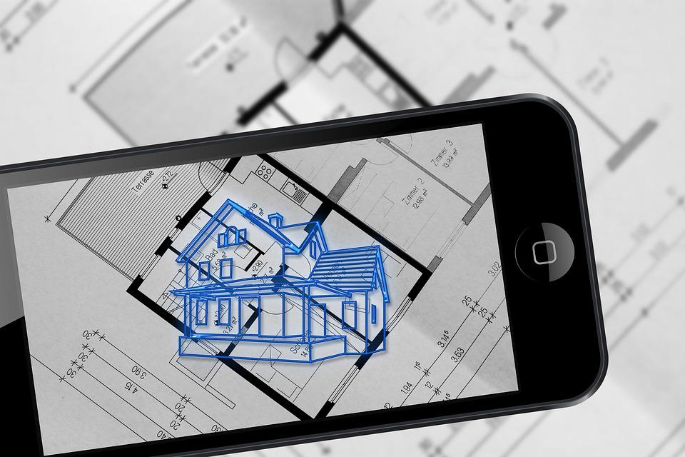 拡張現実感, スマート フォン, 計画, 建築家, アーキテクチャ, 建物, 不動産, グラフィカルに
