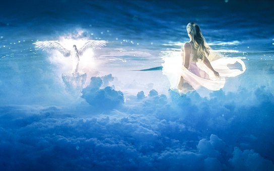 Anioł, Natura, Chmury, Krajobraz
