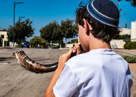 Shofar, Kid, Jewish New Year, Shana Tova