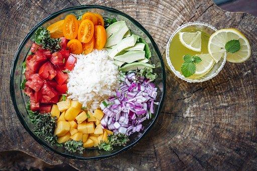 Jedzenie, Zdrowie, Ryż, Pomidory, Cebula żywność ekologiczna