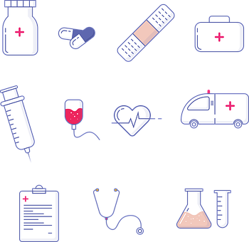Medical, Hospital, Icons, Doctor, Health