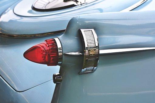 Auto, Oldtimer, Tailfin, Back Light