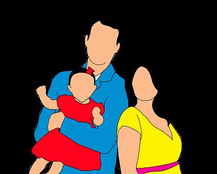 家族, 母, 父, 娘, 一緒に, 子, 人, 女の子, ライフスタイル