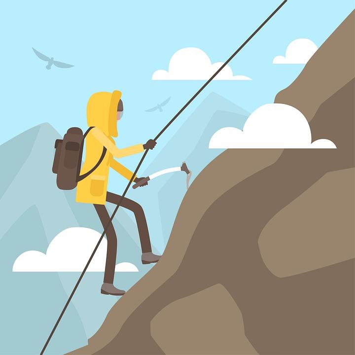 登山, 登山家, アイスピック, ロープ, 山, ラッペリング, ラプラ, 極端な, スポーツ, 自然, 挑戦
