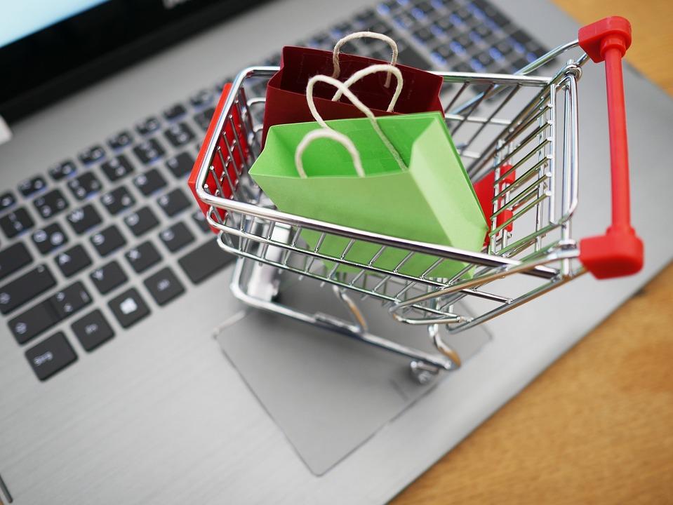 Uw Winkelwagen, Winkelen, Laptop, Supermarkt, Aankoop