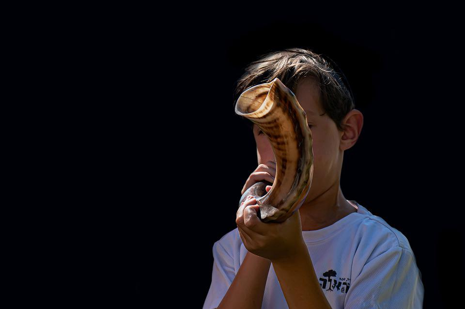 Shofar, Kid, Traditional, Holiday, Tradition, Culture