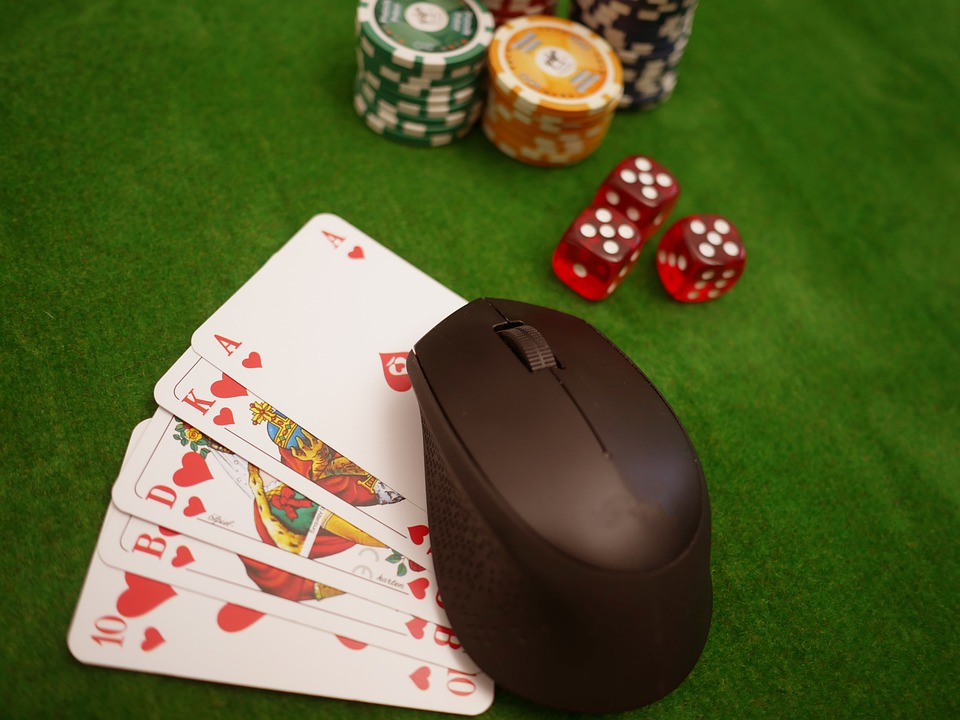 Online Poker, Cards, Chips, Cube, Poker, Play, Gambling