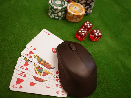 Online Poker, Cards, Chips, Cube, Poker