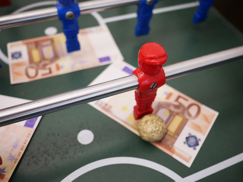 Sport, Football, Foosball Table, Bank Note