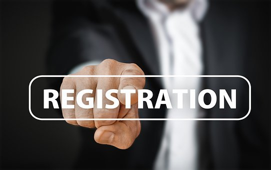 Registration, Password, Try Again, Email