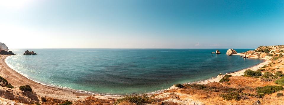 The Beach Of Aphrodite, Paphos, Cyprus, Landscape, Sea