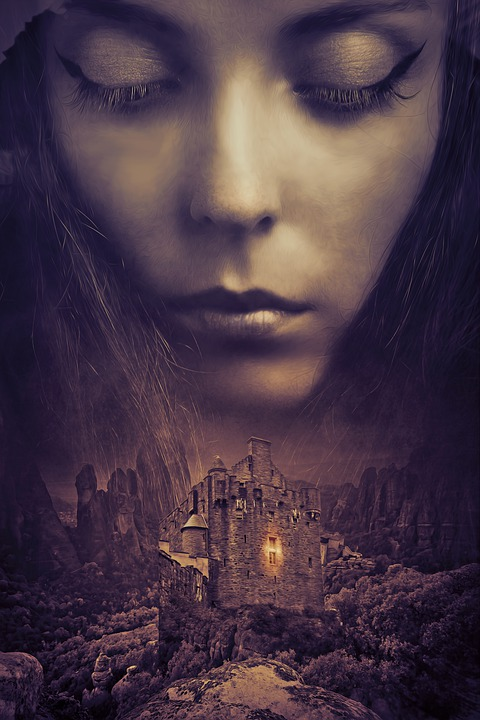 Fantasy, Dark, Medieval, Book Cover, Woman, Girl, Young