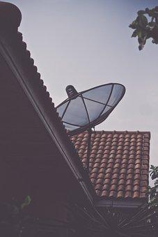 Parabola, Atap, Televisi, Antena, Tv