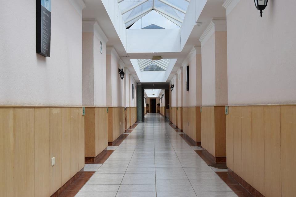 Hotel, Hall, Architecture, Floor, Perspective, Peaceful