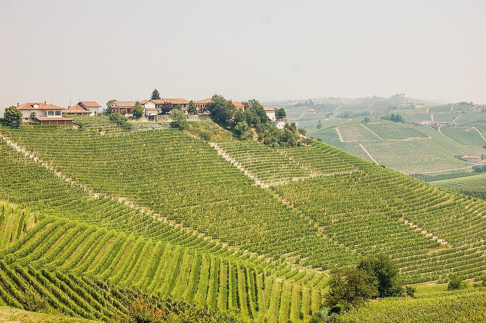 Piedmont, Village, Landscape, Green, Nature, Hill, Sky