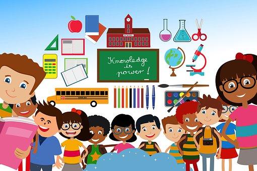 Szkoła, Studentów, Dzieci, Deska
