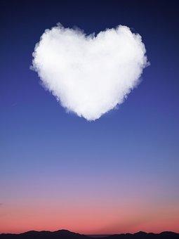 Heart, Sky, Cloud, Horizon, Afterglow