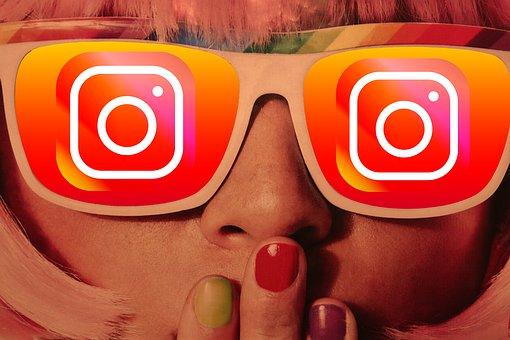 女の子, メガネ, Instagram, サングラス, 社会的なメディア