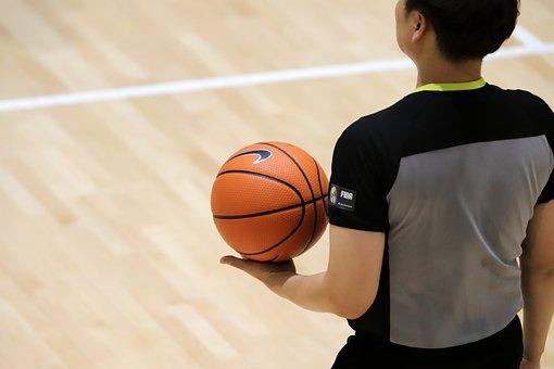 バスケットボール, の審判, ゲーム, スポーツ, 球, 競争, アクション