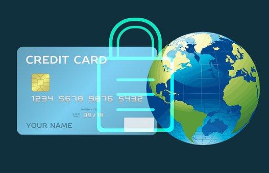 オンライン, セキュリティで保護されました, お支払い, カード, クレジット