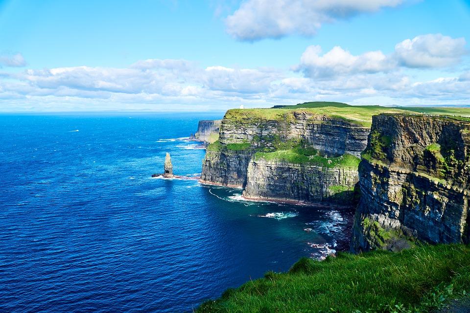 Írország, Cliffs Of Moher Munster, Szikla, Sziklák