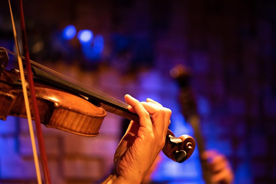 バイオリン, 音楽, 楽器, 古典的な, 弦楽器, ミュージシャン, 再生, メロディー, ビンテージ