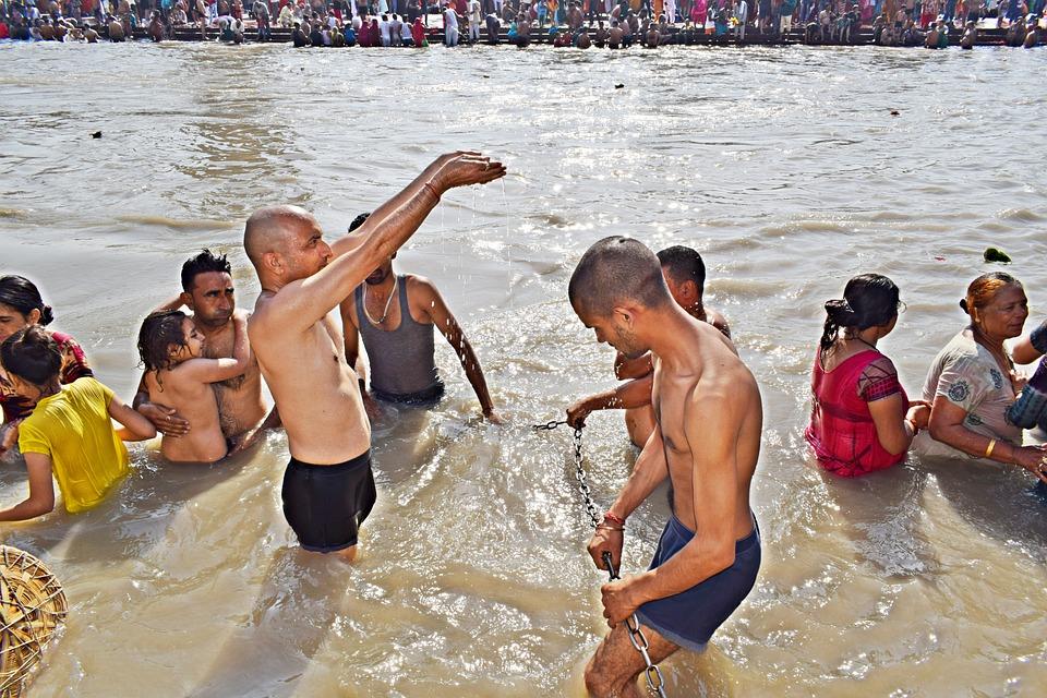 Ганг, Священный, Река, Харидвар, Индия, Индуистские