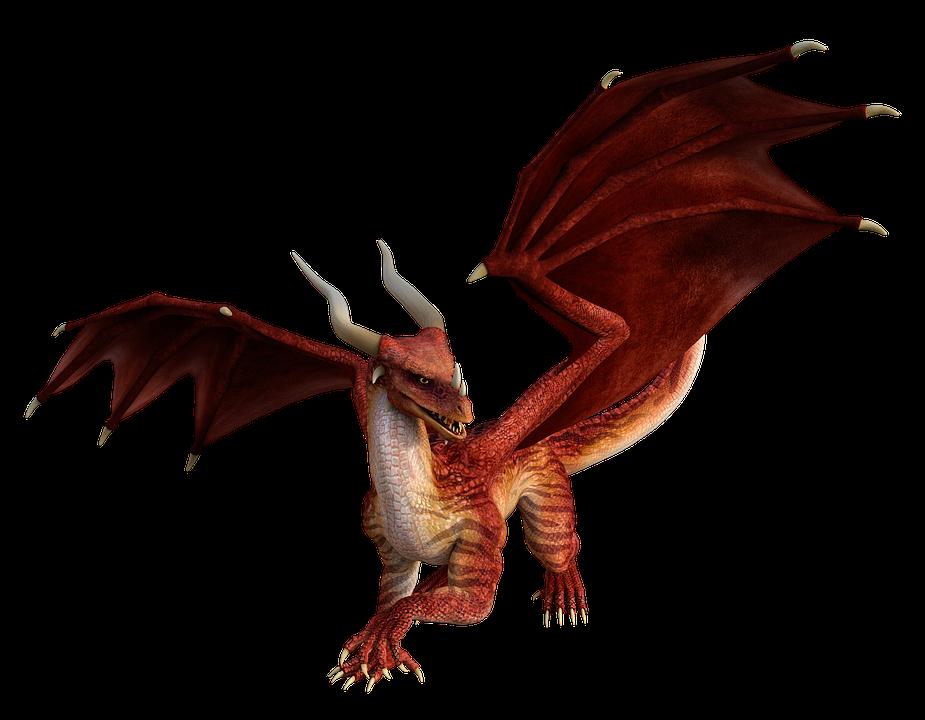 Dragon, 3D, Rendre, Dragon Rouge, Légende