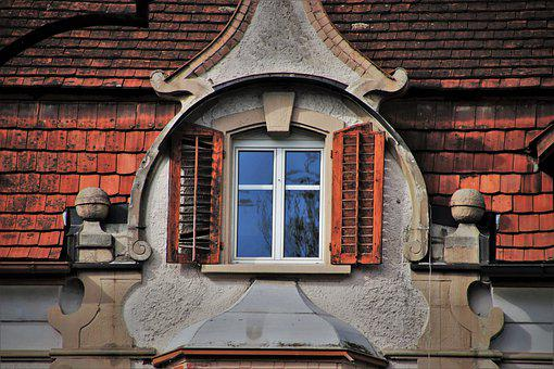 Window, Attic, Facade, Wall, Window Sill