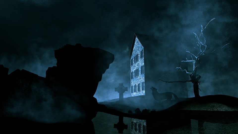 Конте, Легенда, Волк, Ночь, Страх, Миф, 3D, Фэнтези