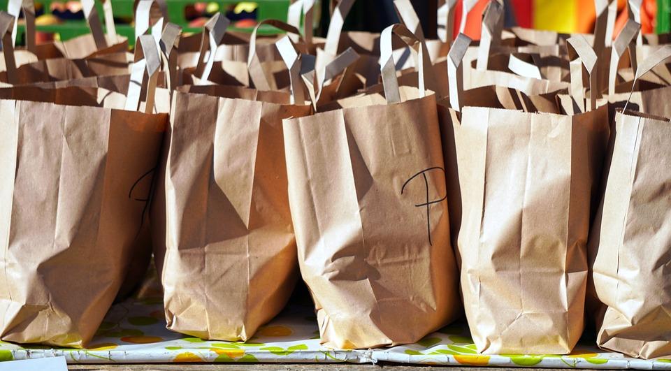 Bolsas, Bolsas De La Compra, Papel, Supermercado