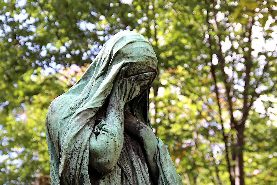 Statue, Sculpture, Bronze, Gray-Green, Patina, Woman