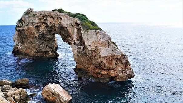 Mallorca - Impressionen - Felsentor, Mittelmeer, Mallorca, Spanien