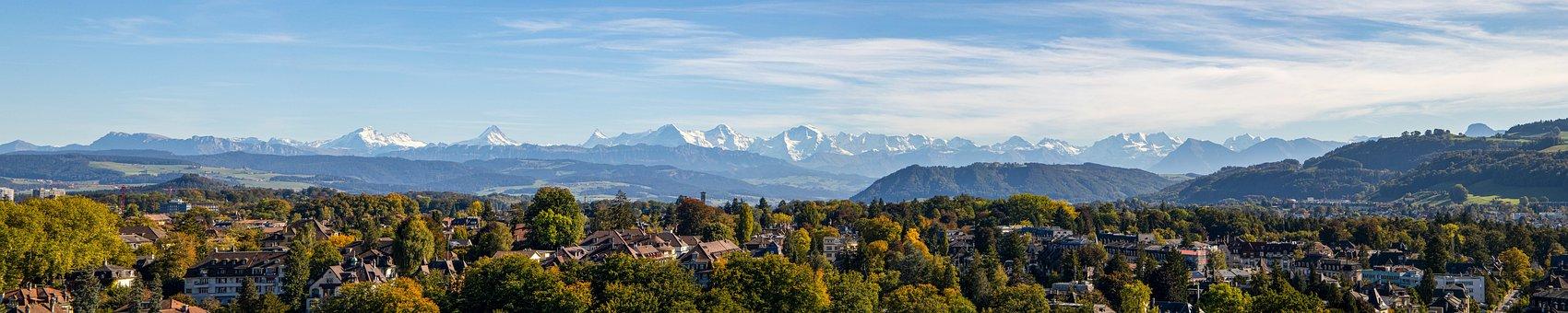 Alpine Panorama, Mountain Range, Alpine