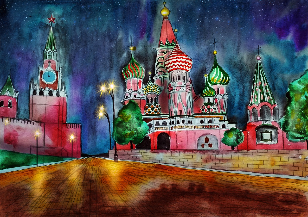 Москва кремль картинки рисунок