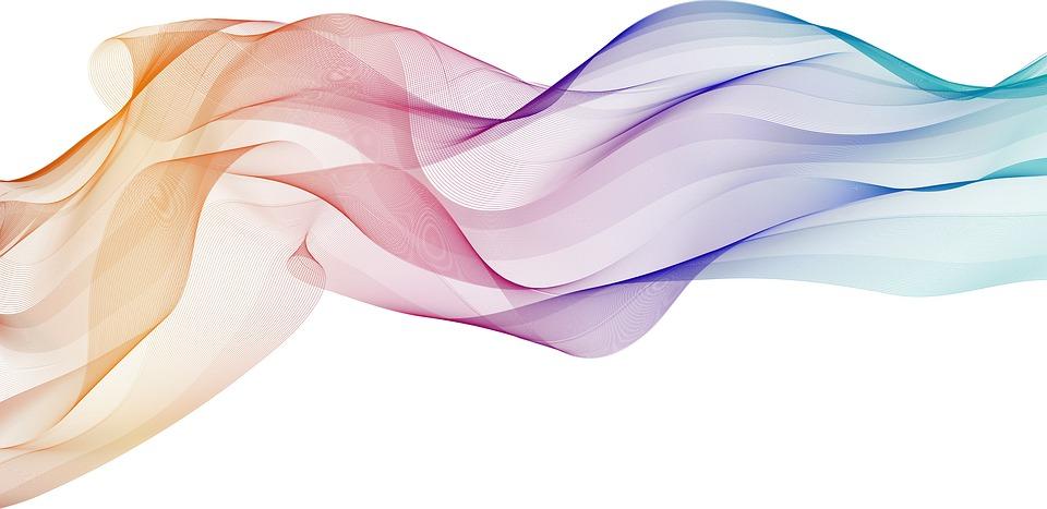 コア, カラフルです, 色, デザイン, 背景, Fundo, Linhas, 行, デジタル, 恩田