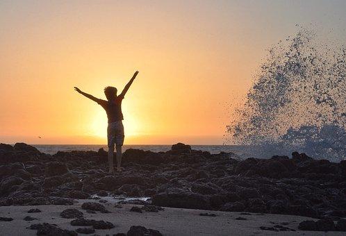 Sunset, Beach, Water, Sky, Dusk