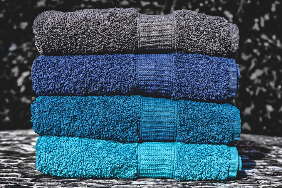 Ręczniki, Niebieski, Turkus, Grey, Kolorowy, Struktura