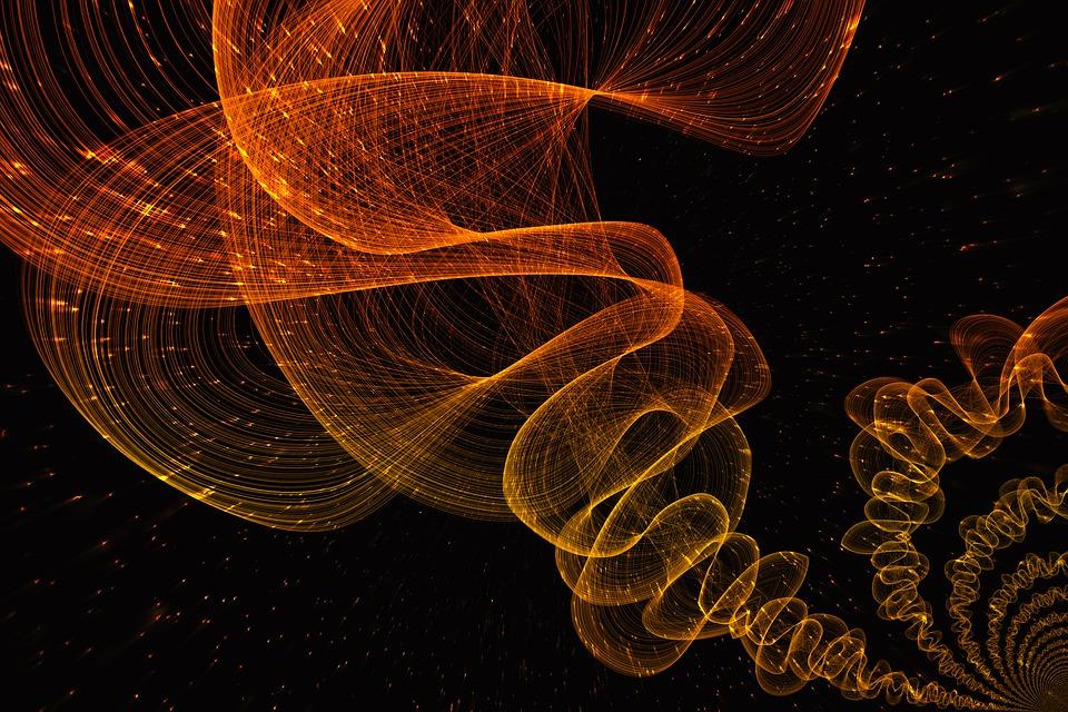 背景, サークル, フラクタル, パターン, 構造, テクスチャ, 創造性, フォーム, 運動, ファブリック