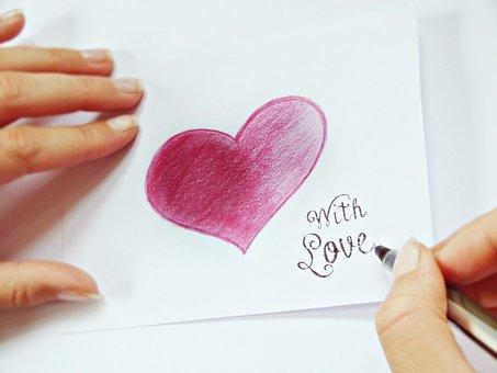 Write, Heart, Finger, Paper, List, Note