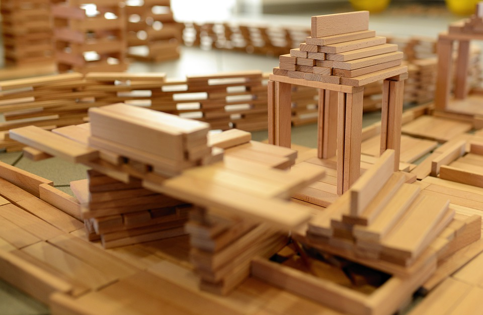 Building Blocks, Wooden Blocks, Build, Live, Stack