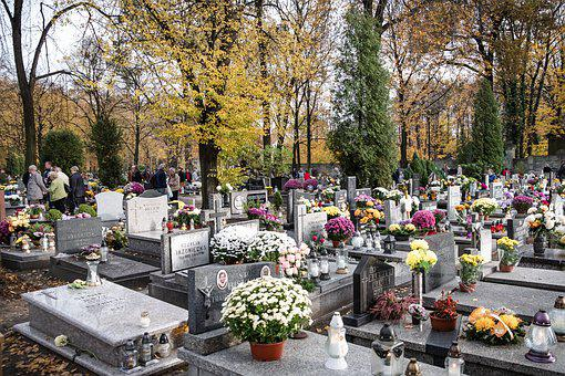 Cemetery, Graves, All Saints ' Day
