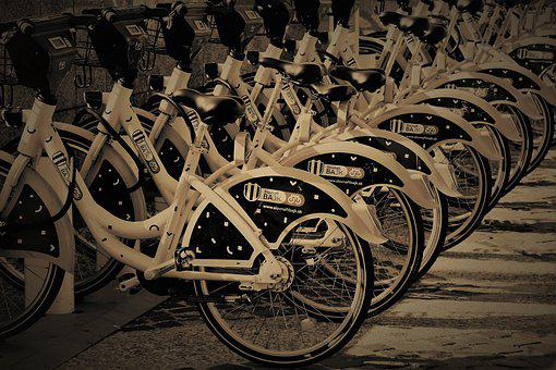 Bicycles, Sepia, Car Rental, Cycle