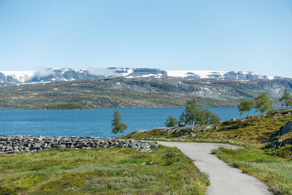 Norway, Mountains, Lake, Glacier, Natural, Landscape